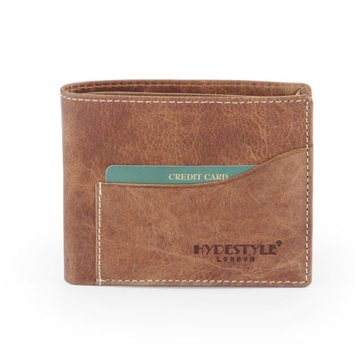 Venator distressed leather sliding 2- in 1 wallet #GW837  Tan