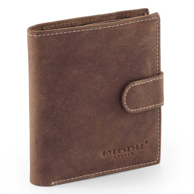 HYDESTYLE Venator distressed leather vertical tab wallet #GW59