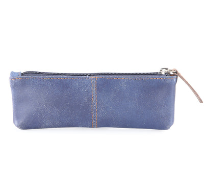 Crackle leather pencil case #TW09