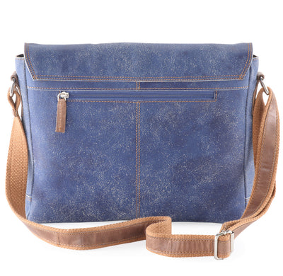 Crackle genuine leather a4 satchel messenger bag #UM44