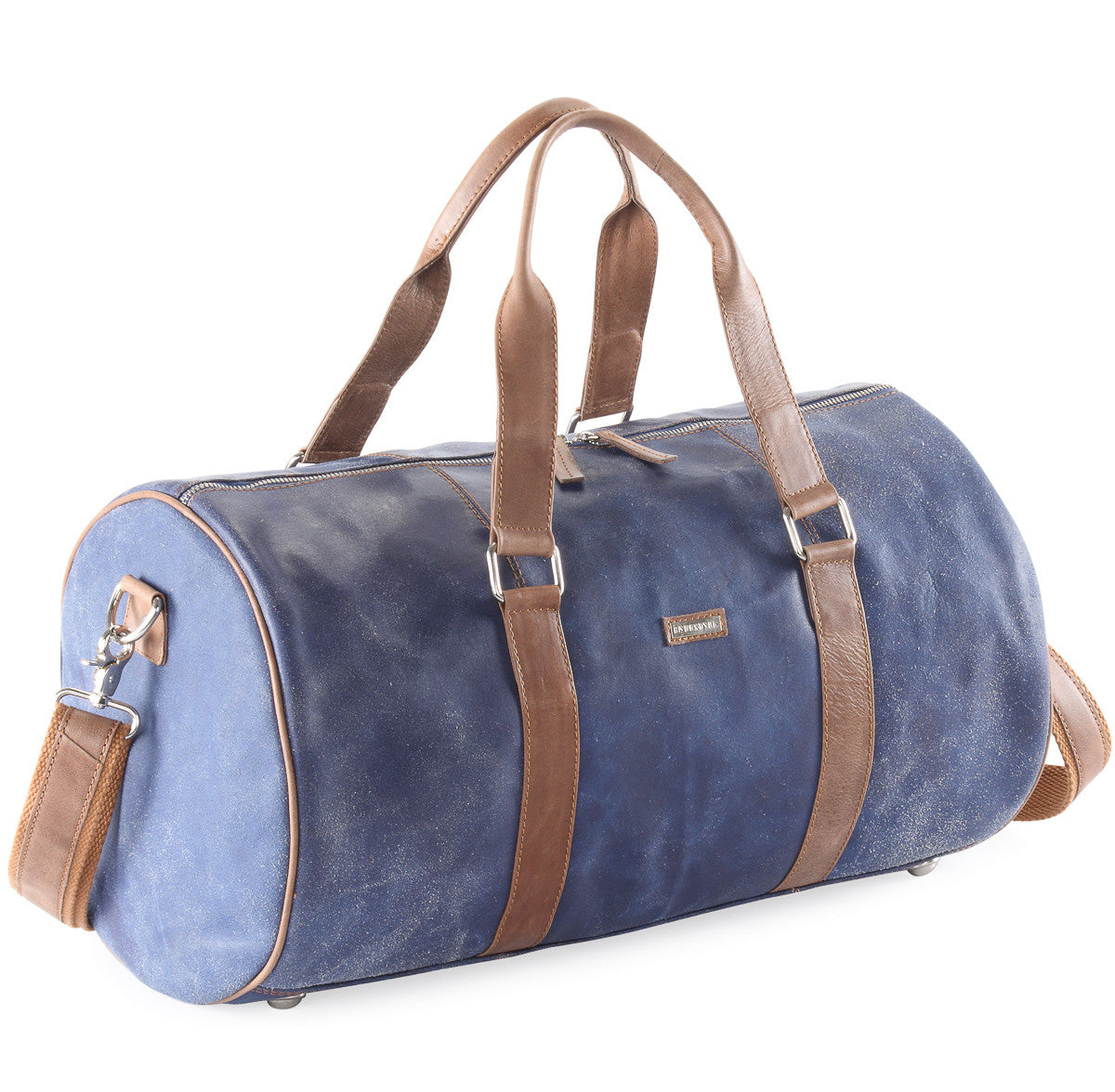 Crackle Leather Duffel Bag #Tt08