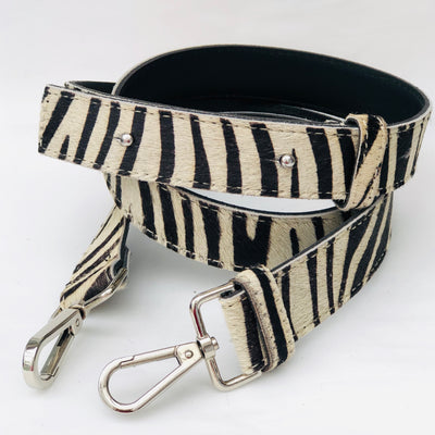 Zebra Hair On Hide Leather Crossbody Bag Replacement Strap