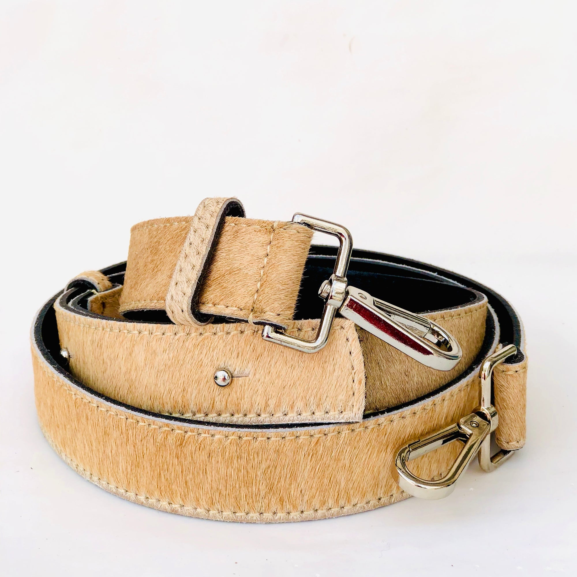 Tan Hair On Hide Leather Crossbody Bag Replacement Strap