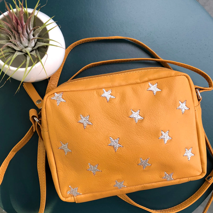 Capra Star Embroidered Bag #LB301-Yellow