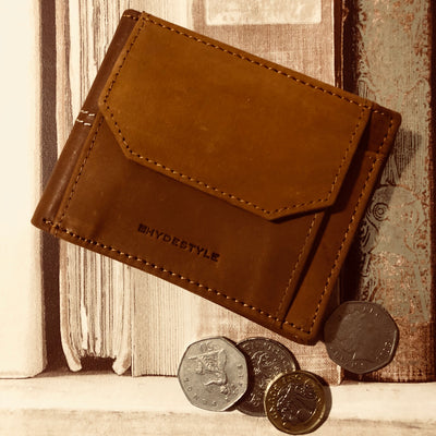 RFID Leather Bifold Slim Wallet #GW821 Tan