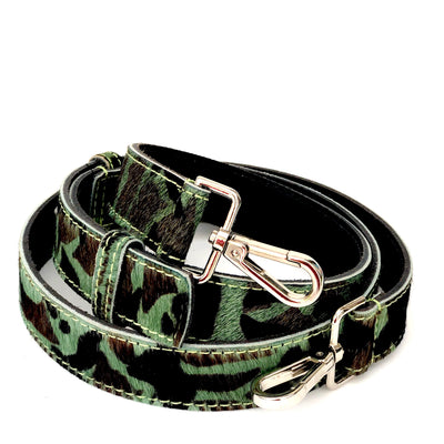 Camo Hair On Hide Leather Crossbody Bag Replacement Strap