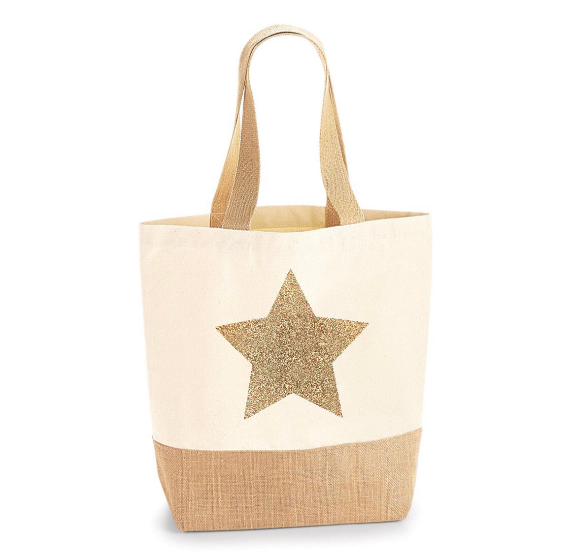 Personalised Jute Base Canvas Shopper