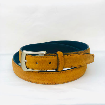 Womens' Suede Leather Belt #BL37-Mustard Yellow