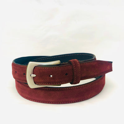Womens' Suede Leather Belt #BL36-Chocolate Brown