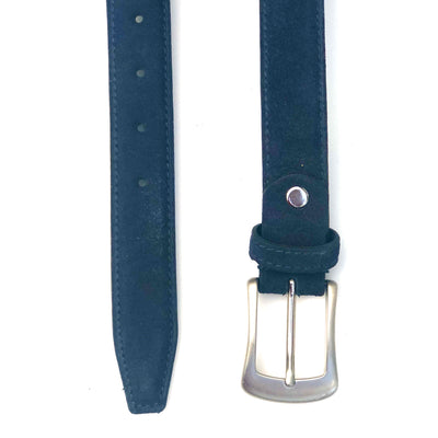 Womens' Suede Leather Belt #BL35- Navy Blue