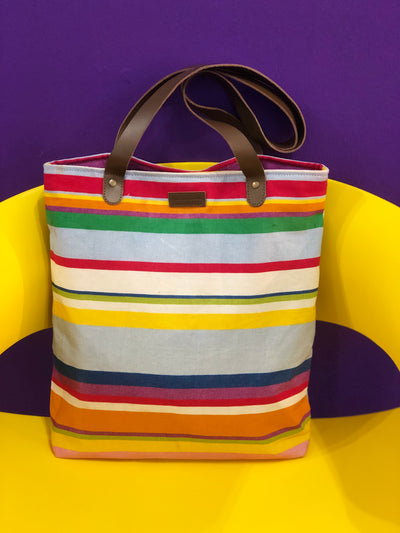 Stripped canvas tote bag LB406-Stripe