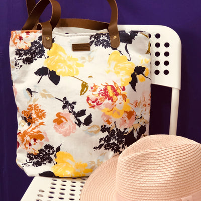 Floral Canvas Tote Bag LB406-Floral