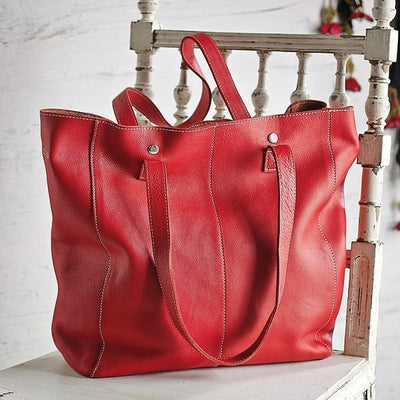 Genuine Leather Holly Tote Bag #LB48