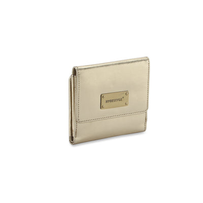 Metallic Rimor leather ladies wallet #LW08 gold
