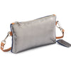 Metallic Rimor Apple Clutch Bag #LB76 pewter