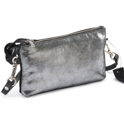 Metallic Rimor Apple Clutch Bag #LB76 black