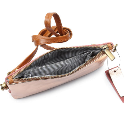 Metallic Rimor Apple Clutch Bag #LB76 rose gold
