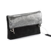 Metallic Rimor Anna 2 way leather messenger clutch bag #LW12 black