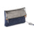Metallic Rimor Anna 2 way leather messenger clutch bag #LW12 pewter