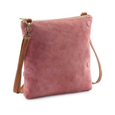 Metallic Rimor Anna 2 way leather messenger clutch bag #LW12 rose-gold