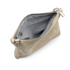 Metallic Rimor Anna 2 way leather messenger clutch bag #LW12 beige