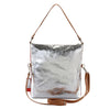 Metallic Rimor 4 way back pack messenger clutch bag #LB31 silver