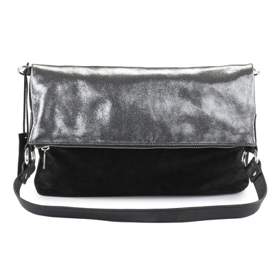 Metallic Rimor 4 way back pack messenger clutch bag #LB31  black