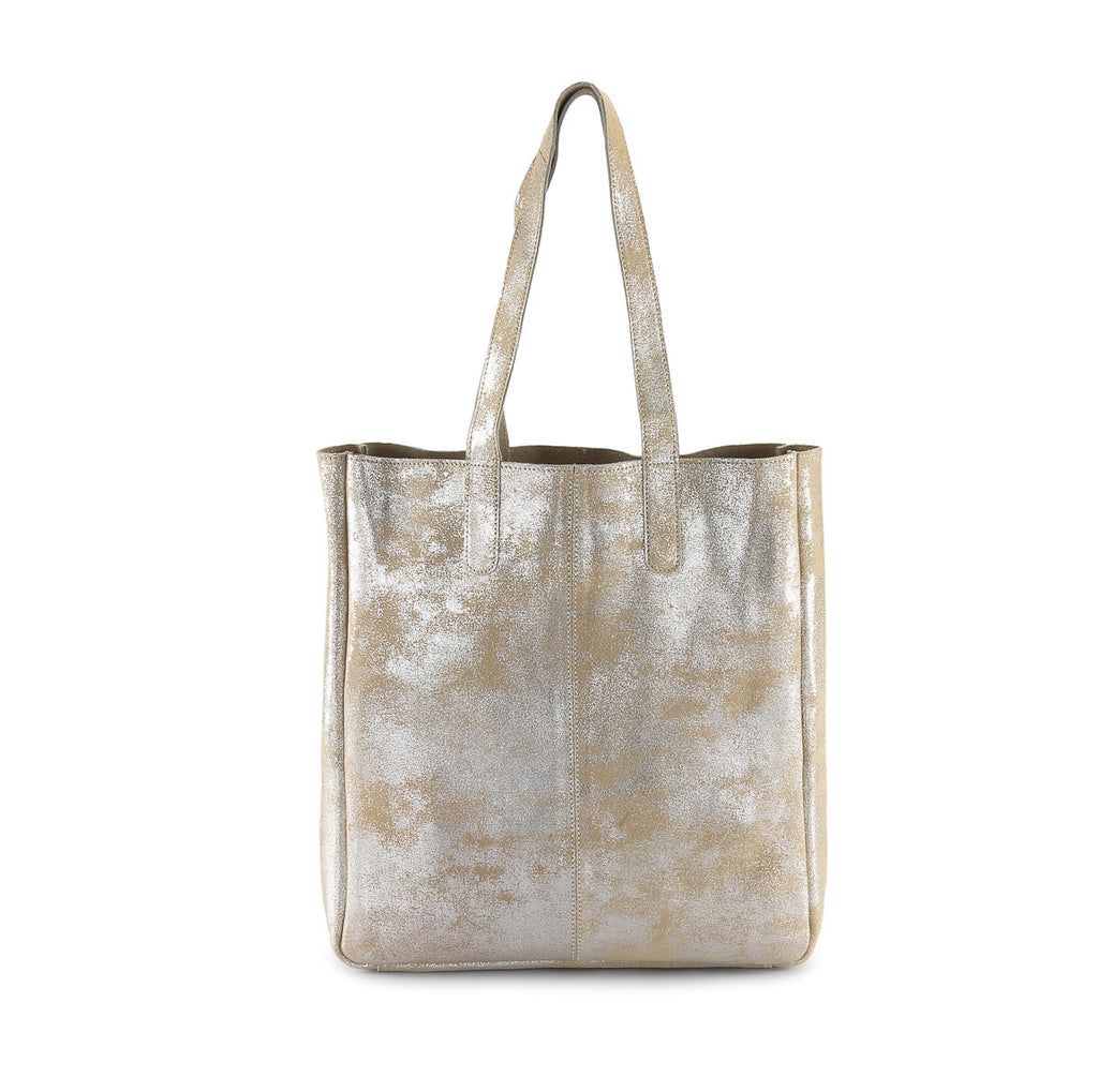 fcbaaec049 Hydestyle Metallic Sofia reversible leather tote bag  LB32 Beige