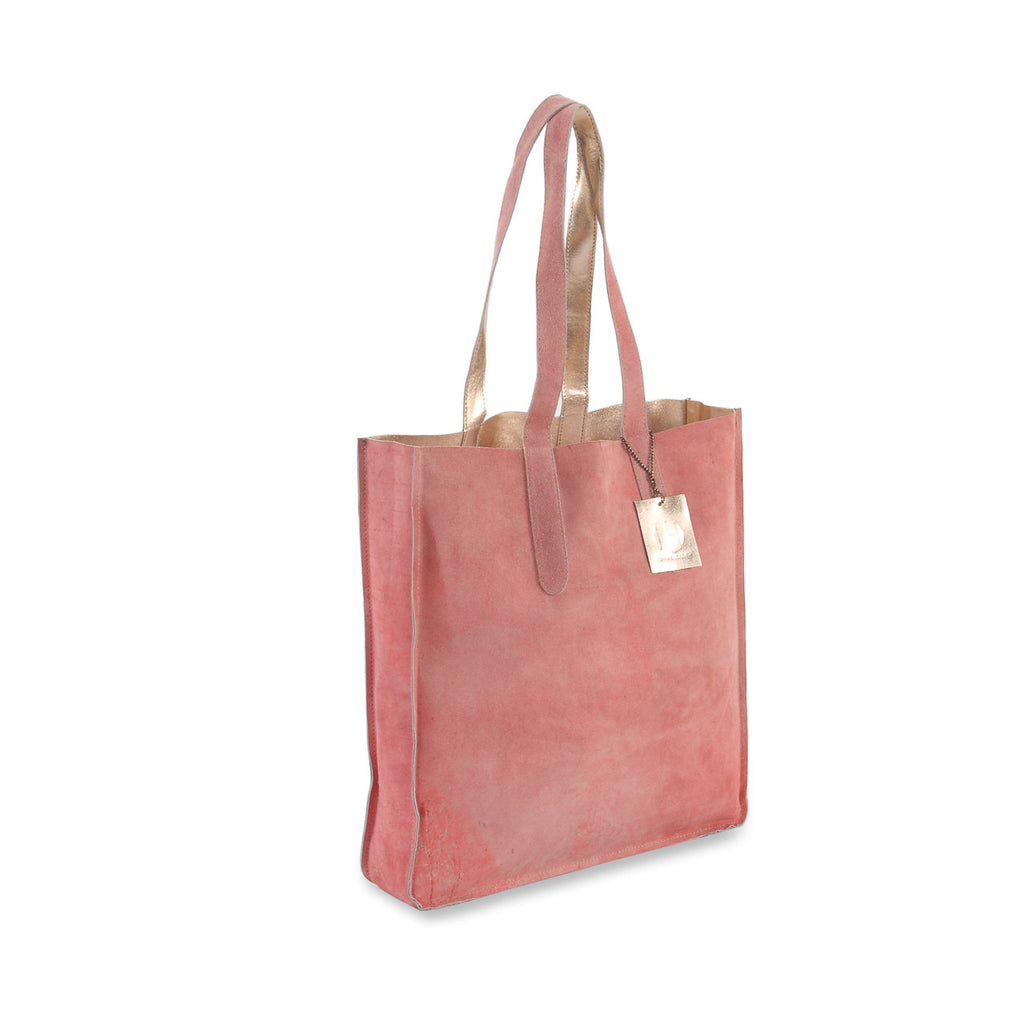 bc2a23214f Hydestyle Metallic Sofia reversible leather tote bag  LB32 Rose
