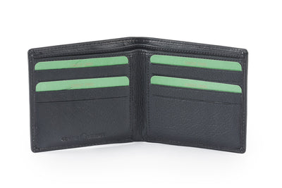 Genuine leather slim wallet #GW53 Black