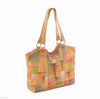 Picta Manu hand painted leather shopper bag #LB20 Abstract Square