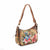 Picta Manu hand painted leather hobo bag #LB21 Floral Berry