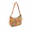 Picta Manu hand painted leather hobo bag #LB21 Abstract Square
