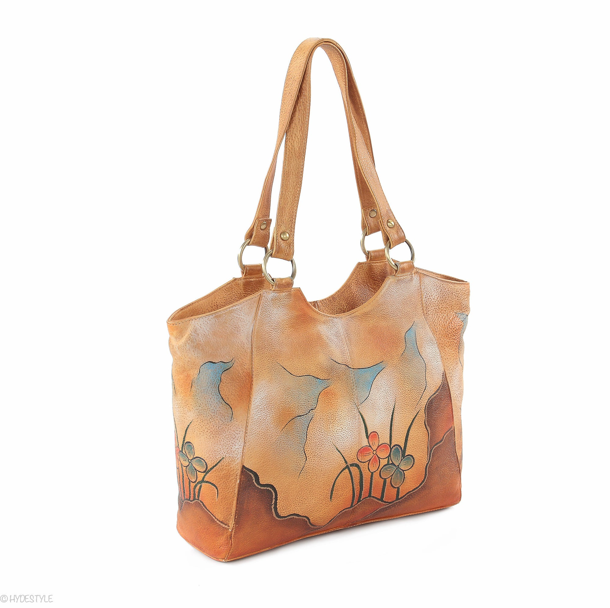 Picta Manu hand painted leather shopper bag #LB20 Tower Bridge