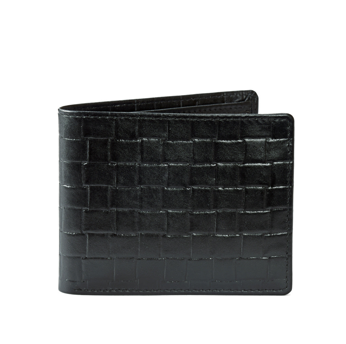 Secure RFID leather wallet for men - closed