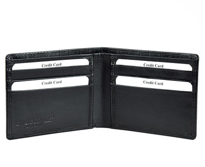 Secure RFID leather wallet for men - front