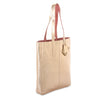 metallic reversible leather tote bag - Rose Gold