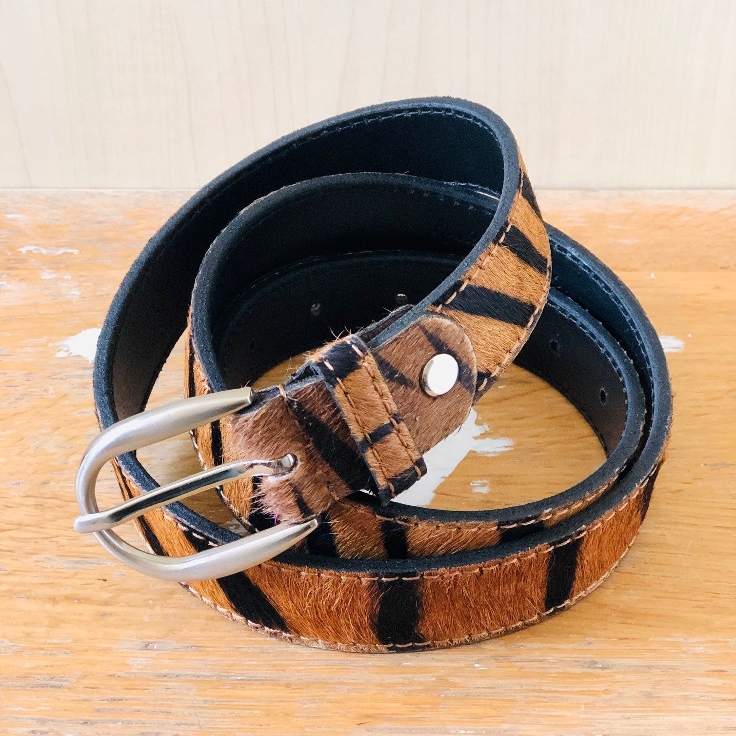 Tiger - Pony Hair leather belt BL17-Tiger