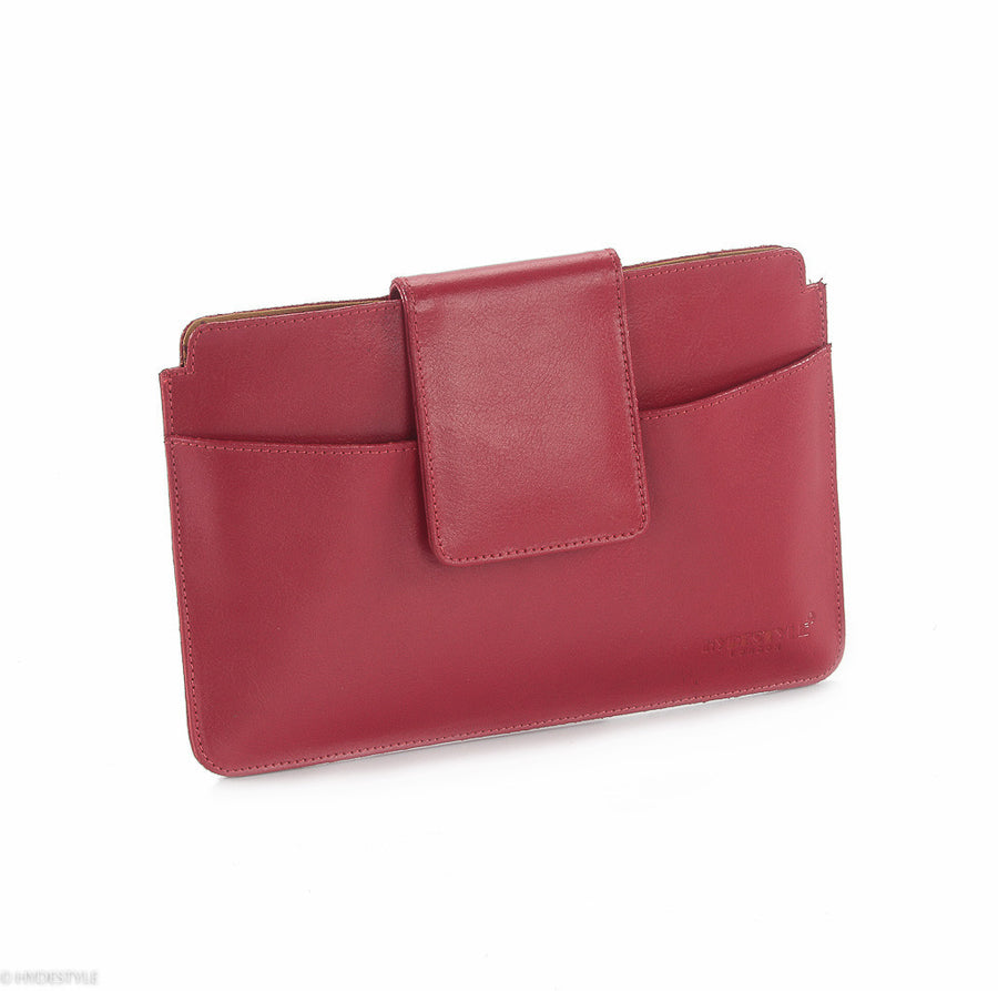 Trenz leather iPad oversize clutch #GC10 Red