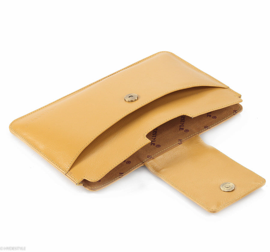 Trenz leather iPad Mini clutch #GC09 Yellow