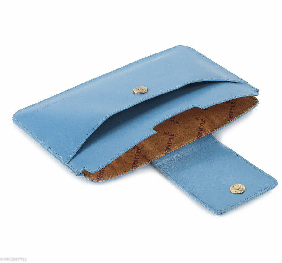 Trenz leather iPad Mini clutch #GC09 Blue