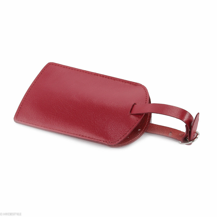 Trenz leather luggage tag  #TW03 Red
