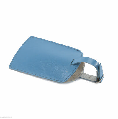 Trenz leather luggage tag  #TW03 Blue