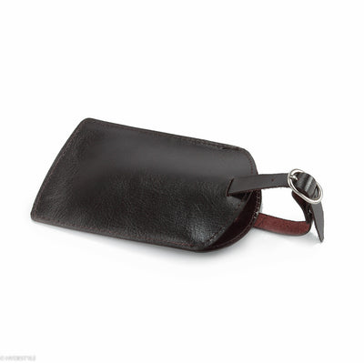 Trenz leather luggage tag  #TW03 Brown