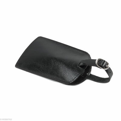 Trenz leather luggage tag  #TW03 Black
