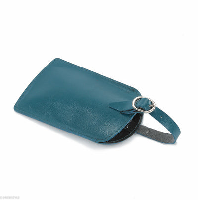 Trenz leather luggage tag  #TW03 Teal