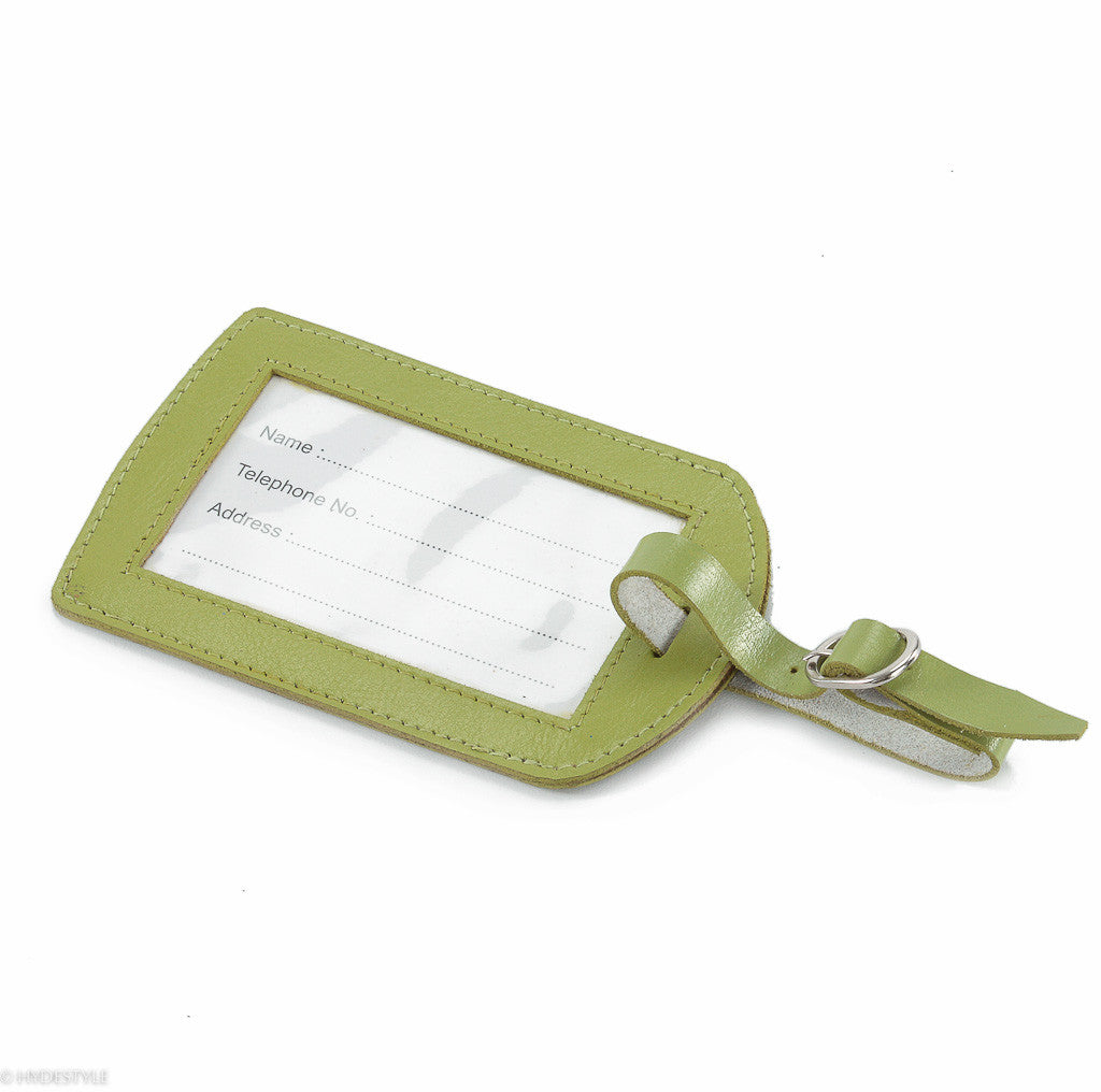 Trenz Leather Luggage Tag #Tw03 Green