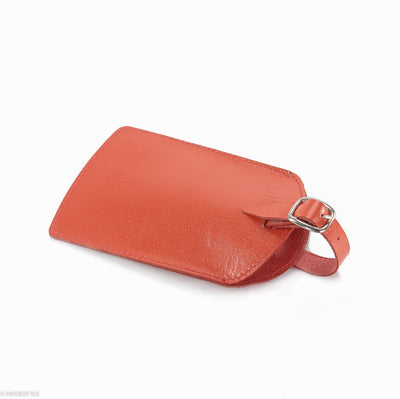Trenz leather luggage tag  #TW03 Orange