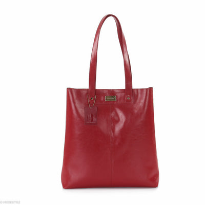 Trenz leather aura tote bag #LB17 Red