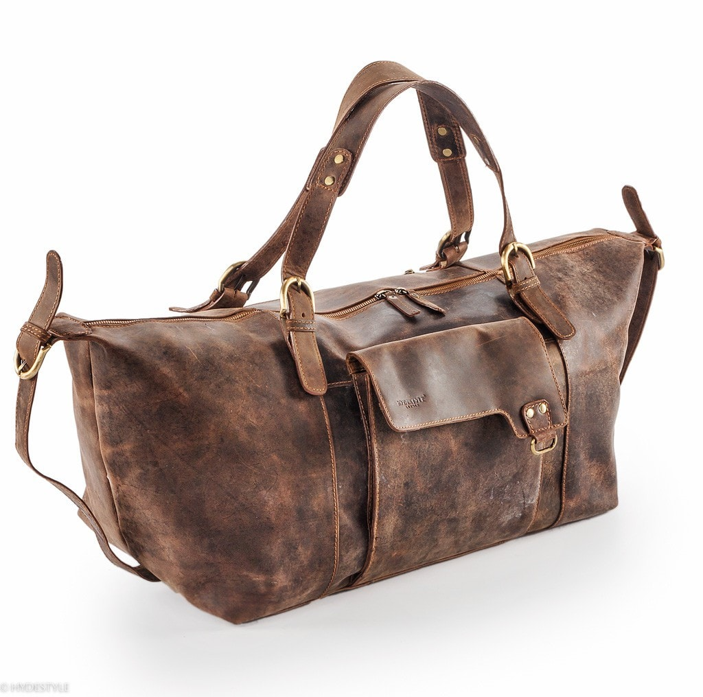 Venator Leather Holdall #Tt01 Brown